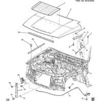 2006-2010 Hummer H3 & H3T Hood Bumper Seal LH or RH New OEM 25786729 15856652
