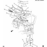2006-2010 Pontiac Solstice Saturn SKY LH Windshield Wiper Arm 25788741 15873453