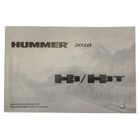 2010 Hummer H3 / H3T Owners Manual for US & Canada New OEM 25843558