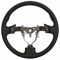 2003-08 Subaru Forester Black Leather W/Dimples Momo Steering Wheel 34312AG050JC