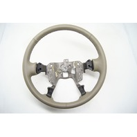 Cadillac 00-05 DeVille 01-04 Seville Steering Wheel Leather Md Wheat no Controls