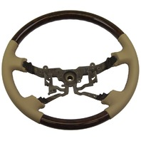 2003-2004 Toyota Avalon Steering Wheel Ivory Leather & Wood New OEM 4510007190A1