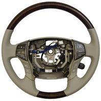 2011-2012 Toyota Avalon Steering Wheel Grey Leather W/Woodgrain New 4510007370B0