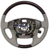 2005-2012 Toyota Avalon Steering Wheel New Grey W/Woodgrain Audio/Temp Control