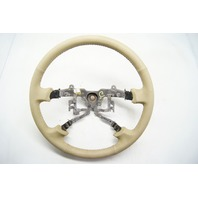 Toyota Camry 2002-2004 Steering Wheel Tan Leather With Dimples Without Controls