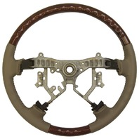 2003-07 Toyota Land Cruiser Steering Wheel Tan Leather W/Woodgrain 4510245010E0