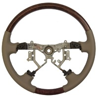 2003-07 Toyota Land Cruiser Steering Wheel Tan Leather W/Woodgrain 4510245010E0