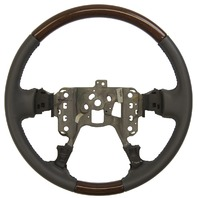 2000-2005 Cadillac DeVille 01-04 Seville Steering Wheel Grey Leather W/Wood New