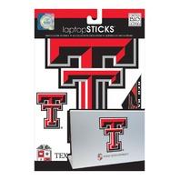 me & my BIG ideas laptopSTICKS Removable Laptop Stickers, Texas Tech Red Raiders
