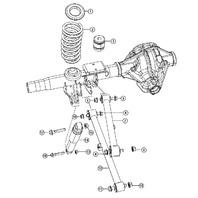 2013-17 Dodge Ram 1500 Rear Strut Used W/O Air Suspension 68194016AA 68194016AB