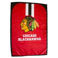 "NHL Licensed Chicago Blackhawks Hockey 31.5""x 47"" Team Fan Flag Cape Banner"