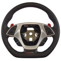 2014-2018 Corvette C7 Z06 Steering Wheel Black Leather W/Red Stitch New 84198725