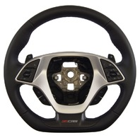 2014-2018 Corvette C7 Z06 Steering Wheel Black Leather W/Red Stitch New 84198732