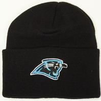 NFL Licensed Football Carolina Panthers Classic Knit Beanie Hat - Cuffed
