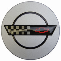 1991-1992 Chevy Corvette C4 Center Cap Painted Silver Black & Red 91-95 ZR-1 New
