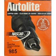Autolite Spark Plugs # 985 Copper Core Pack of 4 NOS