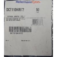 """Hellermann Tyton Dual Tie Clamp 19.2"""" Length Diameter .25""""-2.30"""" DCT110HIRK2"""