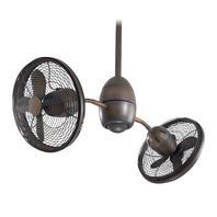 Minka Aire Gyrette F302-RRB Restoration Bronze Dual Motor Ceiling Fan w/Remote