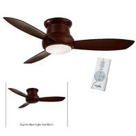 "Minka Aire F519L-MG Mahogany Concept II 52"" Ceiling Fan w/Remotel & LED Light"