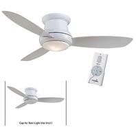 "Minka Aire F519L-WH White Concept II 52"" Ceiling Fan w/Remote & LED Light"