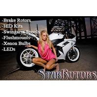H8 Digital Slim 50w Headlight CREE COB LED Kit Buell 1125R 1125 08-09 2 Bulbs