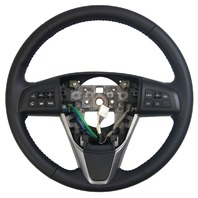 2011-2012 Mazda 6 Steering Wheel Black Leather W/Audio & CC Switch GEJ132980Z01