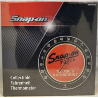 """Snap-On Tools 12"""" Round Wall Thermometer Fahrenheit NIB Metal & Glass SSX15P117"""