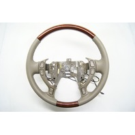 2000-2005 Cadillac DeVille Seville Steering Wheel Wheat Tan Leather W/Woodgrain