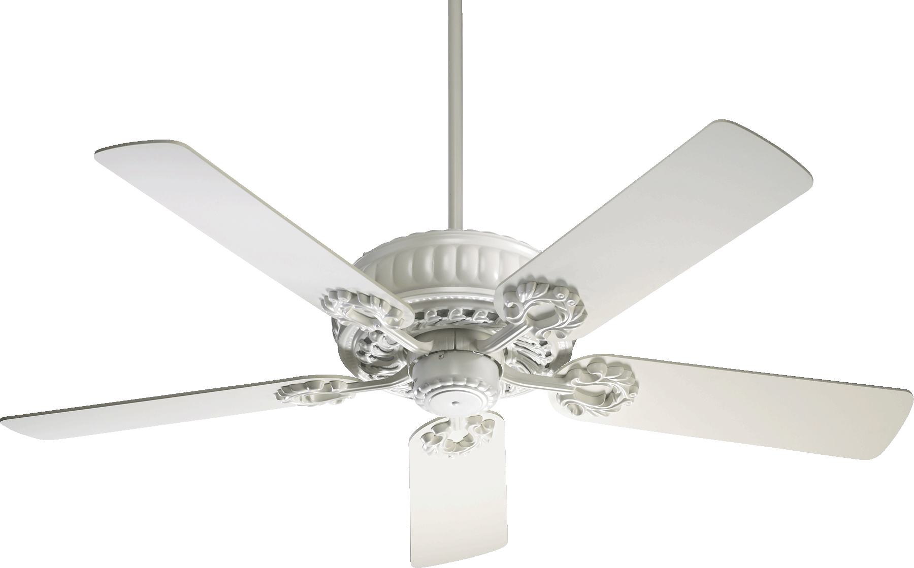 "Studio White Empress 5-Blade 52"" Wide Ceiling Fan W/Matching Blades"