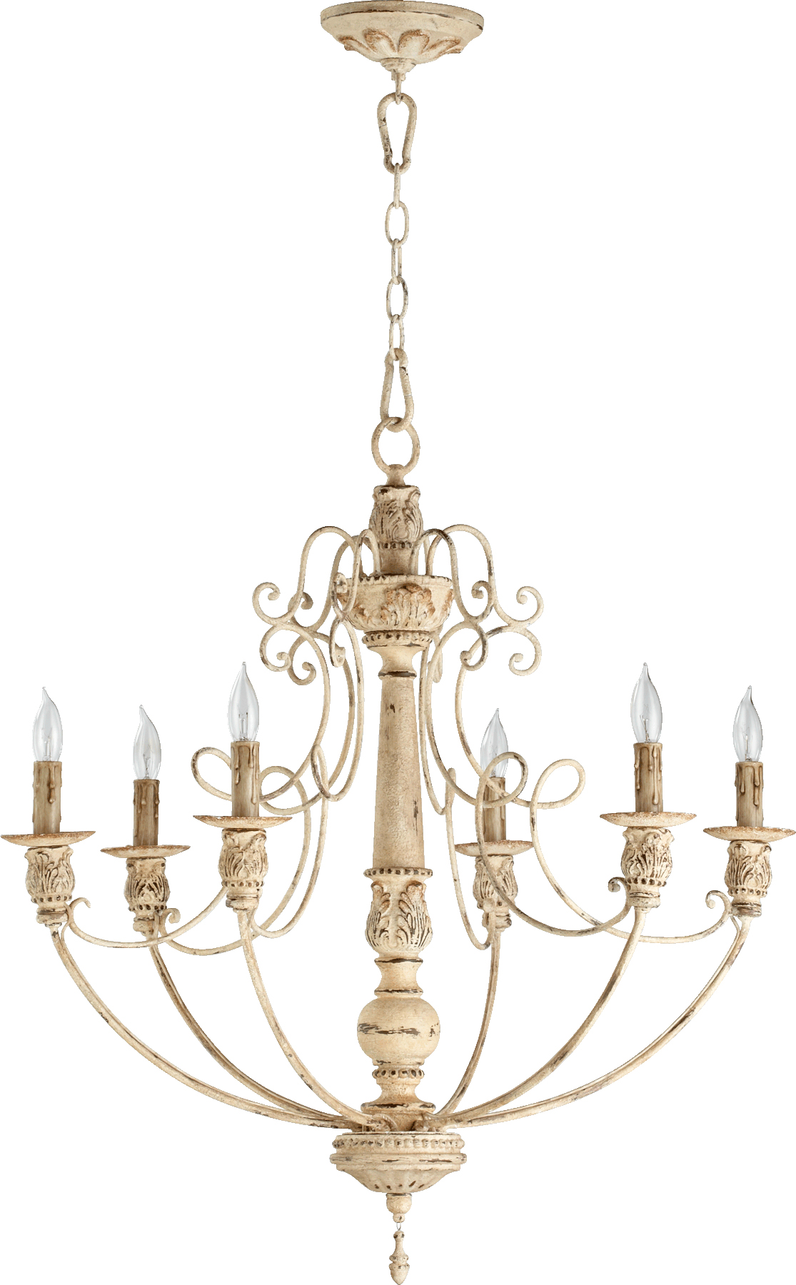 "Persian White Salento 6-Light 27"" Wide Chain-Hung Chandelier"