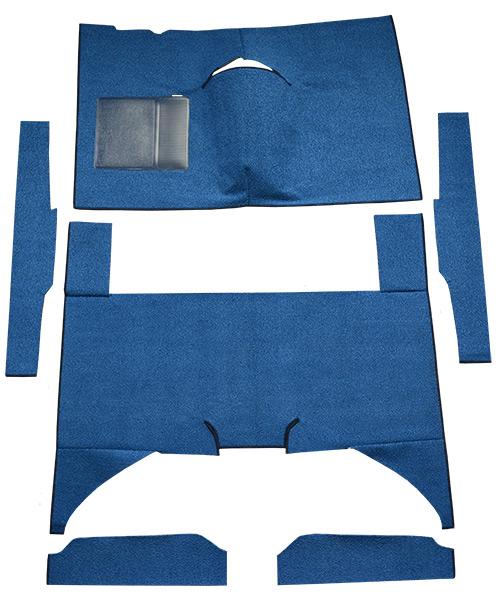 1960-1965 Mercury Comet Carpet Replacement - Loop - Complete   Fits: 4DR, Sedan, Auto, Bench Seat, Cut & Sewn