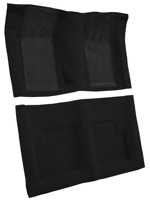 1966-1967 Mercury Cyclone Carpet Replacement - Loop - Complete   Fits: Convertible, 4spd, GT with 2 Black Inserts