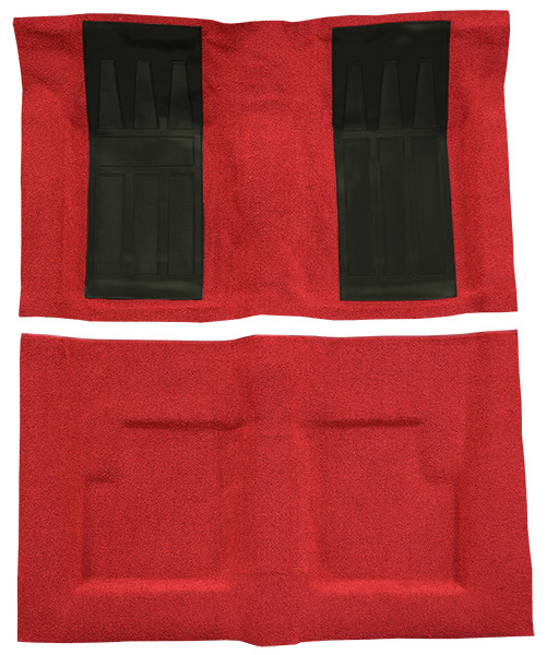 1966-1967 Mercury Cyclone Carpet Replacement - Loop - Complete   Fits: Convertible, Auto, GT with 2 Black Inserts