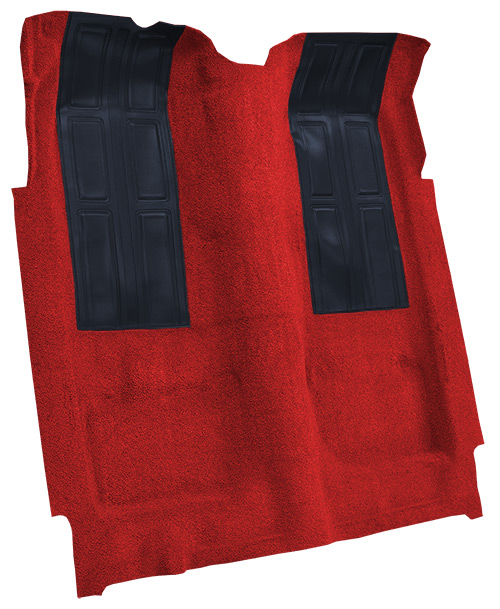 1972-1973 Mercury Montego GT Carpet Replacement - Loop - Complete   Fits: Auto, with 2 Black Inserts