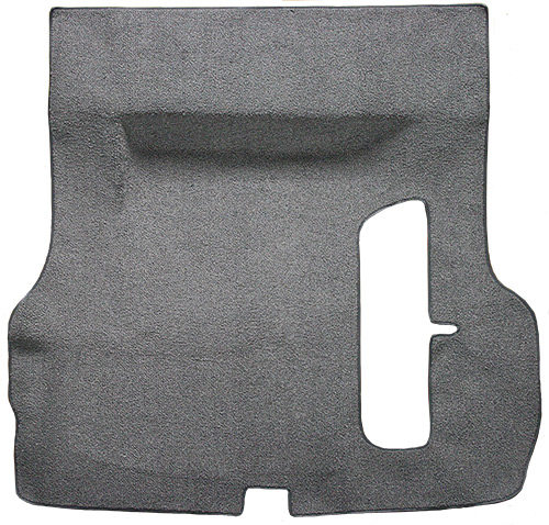 1955-1957 Chevy Bel Air Trunk Carpet - Molded - Loop   Fits: 2DR, 4DR, Hardtop, Sedan, with Spare Tire Cutout, Molded