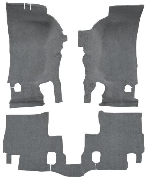2007-2010 Jeep Wrangler Carpet Replacement - JK - Cutpile - Passenger Area | Fits: 2DR