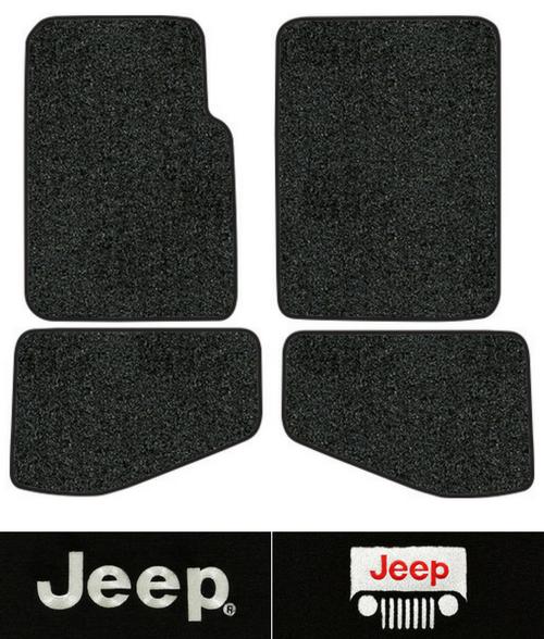 1997 2006 Jeep Wrangler Floor Mats   TJ   4pc   Cutpile