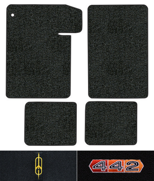1964-1967 Oldsmobile 442 Floor Mats - 4pc - Loop
