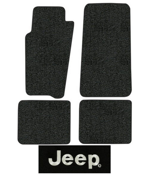 801-Black Plush Cut Pile Passenger Area only 1996 to 1998 Jeep Grand Cherokee Carpet Custom Molded Replacement Kit