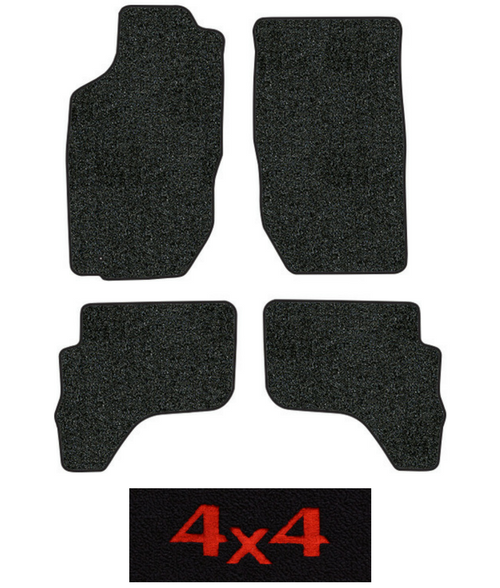2001 2004 toyota tacoma floor mats 4pc cutpile fits double cab factory oem parts. Black Bedroom Furniture Sets. Home Design Ideas