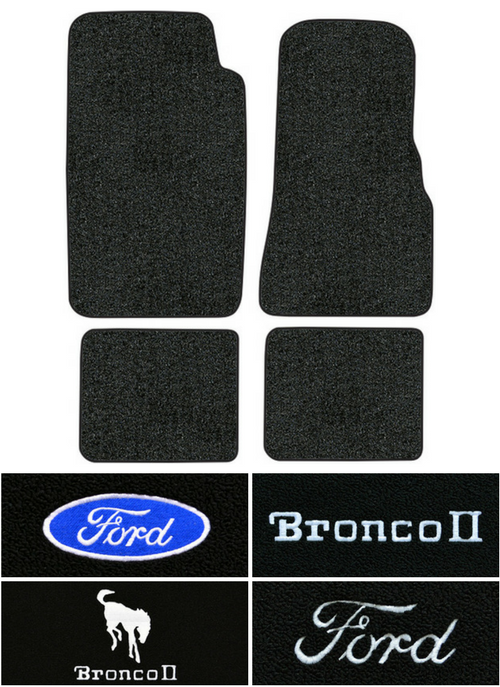 1984 1990 Ford Bronco Ii Floor Mats 4pc Cutpile