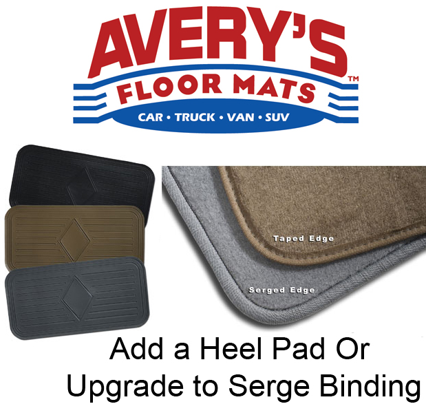 ADD ON - Add Serge Binding or Add a Heel Pad - Avery's Floor Mats - ADD ON
