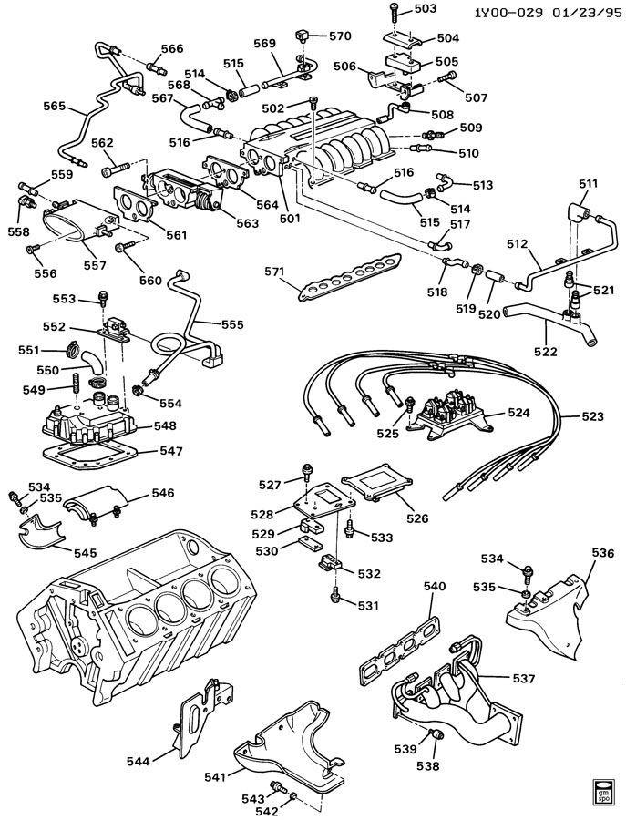 1990 1995 Chevy Corvette Zr1 Lt5 Pcv Crankcase Vent Cover Assy