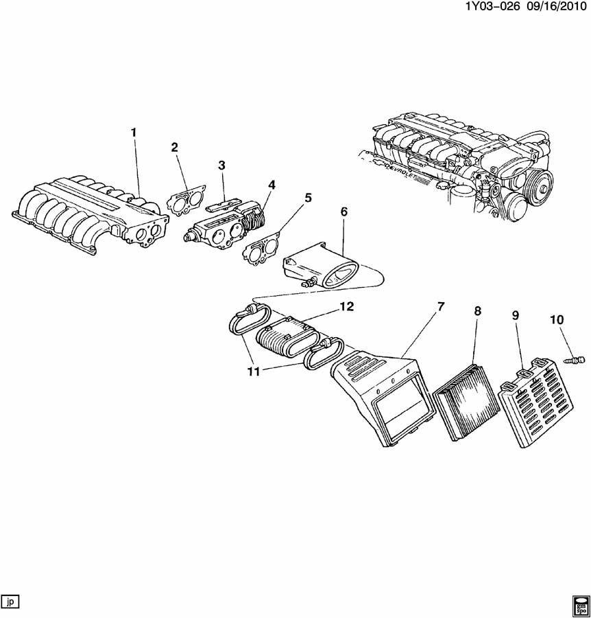 lt5 engine diagram 1993 1995 chevrolet corvette zr1 lt5 air intake manifold plenum  1993 1995 chevrolet corvette zr1 lt5