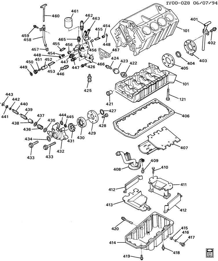 lt5 engine diagram 1993 1995 chevy corvette zr1 c4 lt5 oil pan w baffle new oem  1993 1995 chevy corvette zr1 c4 lt5 oil