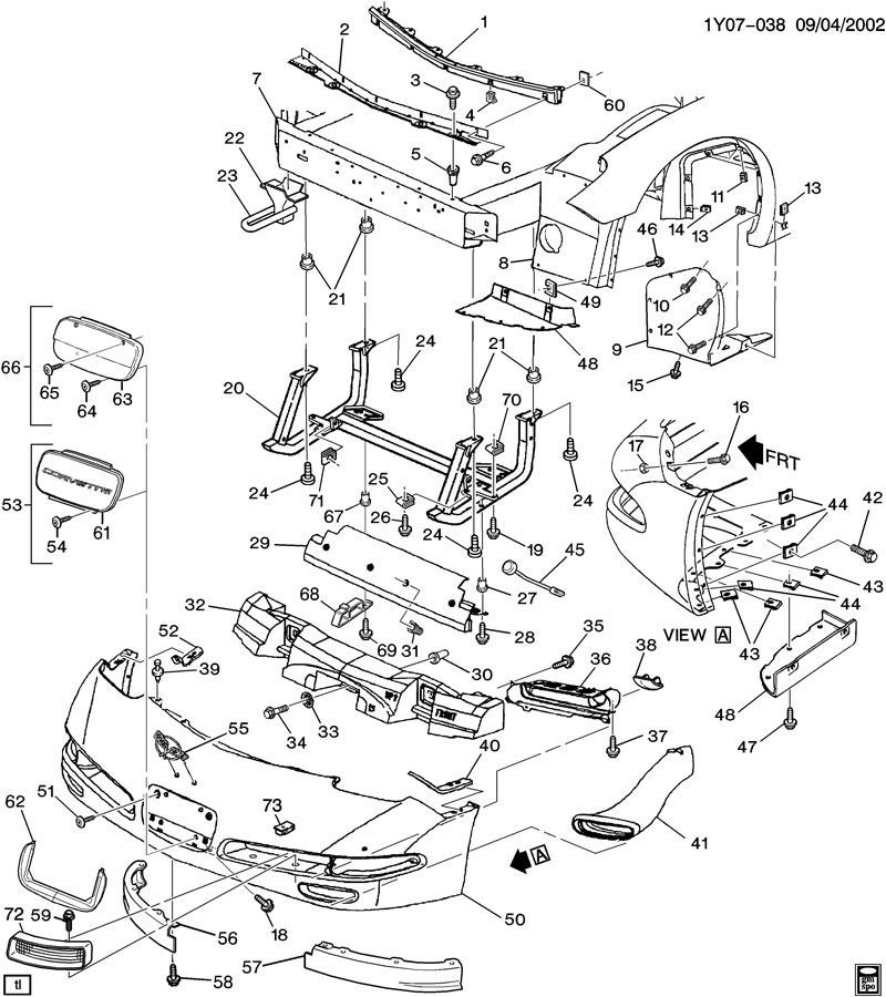 C5 Corvette Parts Diagram Radiator Removal