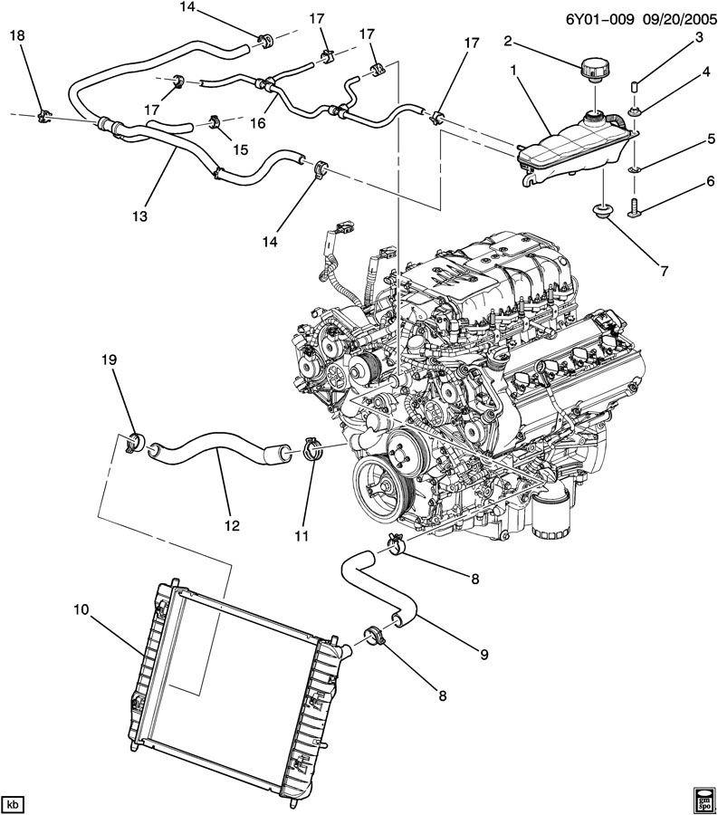 cadillac xlr v upper radiator hose 19129885 factory oem parts Cadillac XLR Horsepower cadillac xlr v upper radiator hose 19129885