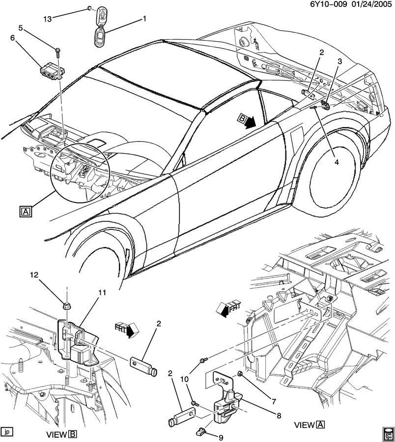 2009 Cadillac Xlr Camshaft: 2004-2009 Cadillac XLR Right Keyless Entry Antenna Mount