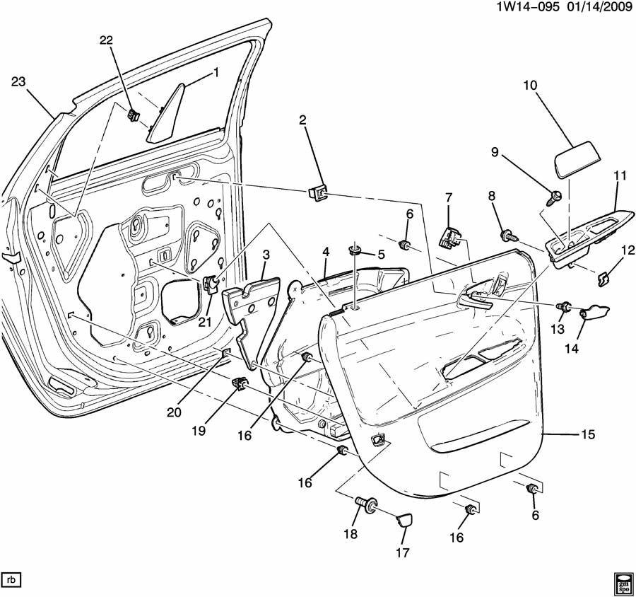 2006 2014 chevrolet impala rear rh door handle insert. Black Bedroom Furniture Sets. Home Design Ideas