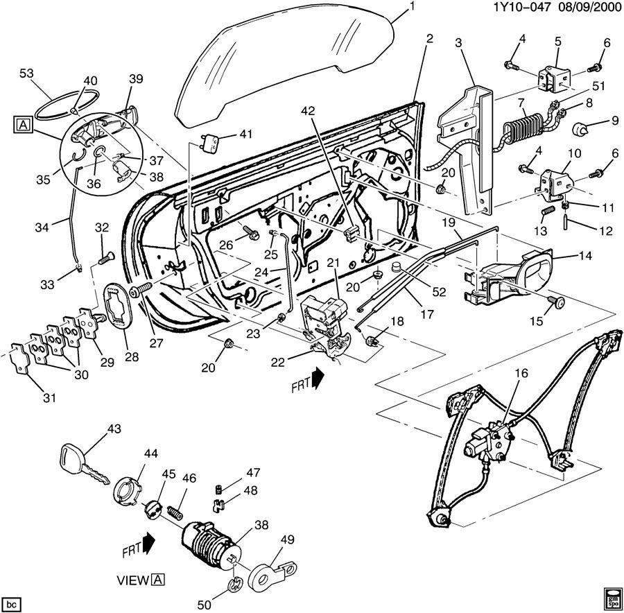1997 2004 chevrolet corvette c5 left lh door wire harness. Black Bedroom Furniture Sets. Home Design Ideas